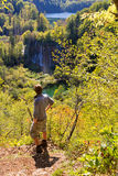 Plitvice lookout Stock Photography