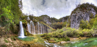 Plitvice lower panorama Royalty Free Stock Images