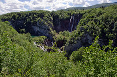 Plitvice - Mountain landscape. With waterfalls and lakes. Croatia Stock Photos