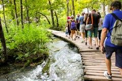 Plitvice Nationaal Park in Kroatië Stock Afbeelding