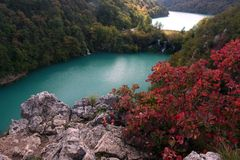 Plitvice National Park. Autumn in the Plitvice National Park, Croatia stock photography