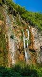 Plitvice National Park, Croatia - the Big Waterfall, Stock Image