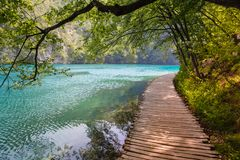 Plitvice National Park, Croatia. On a hot summer day Royalty Free Stock Photo