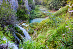 Plitvice waterfalls Croatia Royalty Free Stock Photography