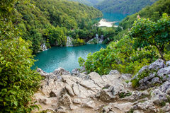 Plitvice lakes waterfalls Croatia Royalty Free Stock Photos
