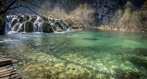 Plitvice national park ,masterpiece of nature 3. The Plitvice National Park is a true masterpiece of nature where the waters from the beautiful lakes flow stock photography