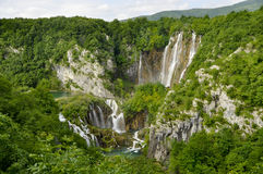 Plitvice national park waterfall Royalty Free Stock Images