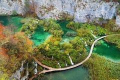 Plitvice nationalpark, Kroatien, Europa royaltyfri fotografi