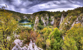 Plitvice panorama HDR Stock Photography