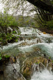 Plitvice park footpath round waterfalls Royalty Free Stock Image