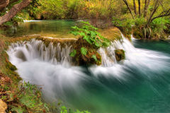 Plitvice reservoir flow Royalty Free Stock Image