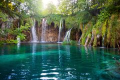 Plitvice See-Nationalpark in Kroatien Stockbilder