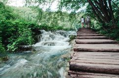Plitvice Seen Nationalpark, Kroatien stockbild