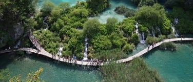 Plitvice Seen (Plitvicka-jezera), Kroatien Stockbilder