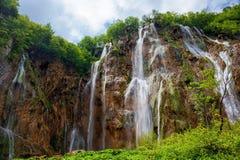 Plitvice Seepark in Kroatien stockbild