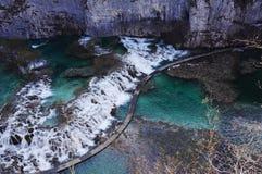 Plitvice sjöar Fotografering för Bildbyråer