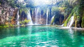 Plitvice sjöar och vattenfall royaltyfri fotografi