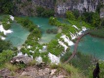 Plitvice sjöar och vattenfall i Kroatien Royaltyfri Fotografi