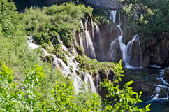 Plitvice. View of the Waterfalls. View of the Waterfalls in Plitvice Lakes, Croatia Royalty Free Stock Photography