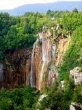 Plitvice - Wasserfall Stockbild