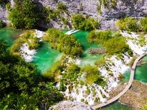 Plitvice Wasserfall Stockbild
