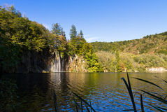 Plitvice waterfall lake Royalty Free Stock Image
