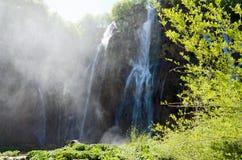 Plitvice. Waterfall. Waterfall in Plitvice Lakes, Croatia Royalty Free Stock Photos