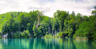 Plitvice waterfall Stock Images