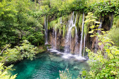 Plitvice Waterfall. Waterfall in Plitvice Lakes National Park, Croatia Stock Photo