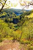 Plitvice waterfall panorama Stock Images