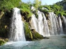 Plitvice Waterfalls, Croatia. The waterfalls of Plitvice lakes in the summer, Croatia Stock Image