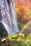 Plitvice waterfalls in the fall royalty free stock photo
