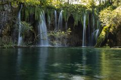 Plitvice Waterfalls and lakes, Croatia royalty free stock photos