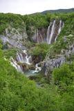 Plitvicka Jezera - Plitvickie sjöar Arkivbilder