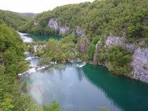 Plitvicka Jezera - Plitvickie sjöar Arkivfoton