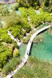 Plitvicka lake, aerial view - Croatia Royalty Free Stock Photos