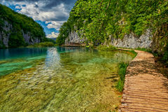 Plitvitce Lakes Pathway, Croatia Royalty Free Stock Images