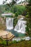 Pliva瀑布在亚伊采 免版税库存照片