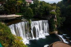 Pliva Falls in Bosnia & Herzegovina. Waterfall lays in Jajce, Bosnia & Herzegovina Royalty Free Stock Photos