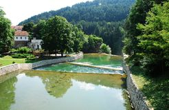 Pliva River in Jajce Royalty Free Stock Image