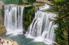 Plivawatervallen in Jajce royalty-vrije stock afbeeldingen