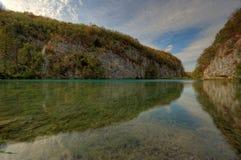 plivicka plitvice λιμνών jezera Στοκ Εικόνα