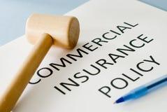 Póliza de seguro Imagen de archivo libre de regalías