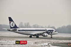 PLL LOT plane SP-LIK Royalty Free Stock Image