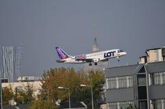 PLL LOT plane Stock Photo
