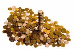 plllar的硬币 免版税图库摄影