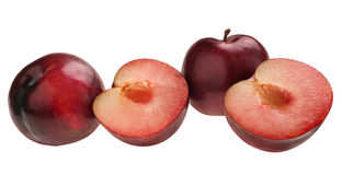 Pllum fruit line Royalty Free Stock Photo