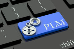 PLM concept on keyboard button Stock Photos