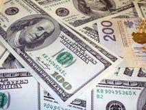 Pln de los usd del dinero Imagenes de archivo