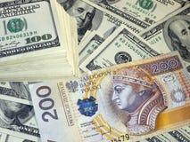 Pln usd денег Стоковое Фото